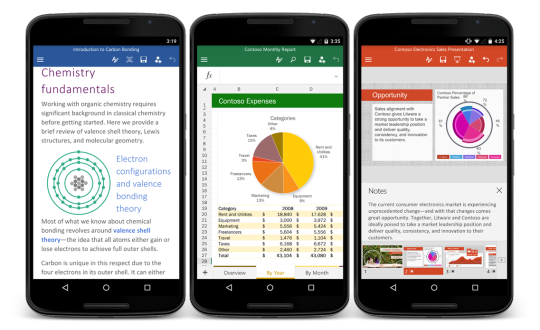 Microsoft Office for Android, Free to Download on Play Store